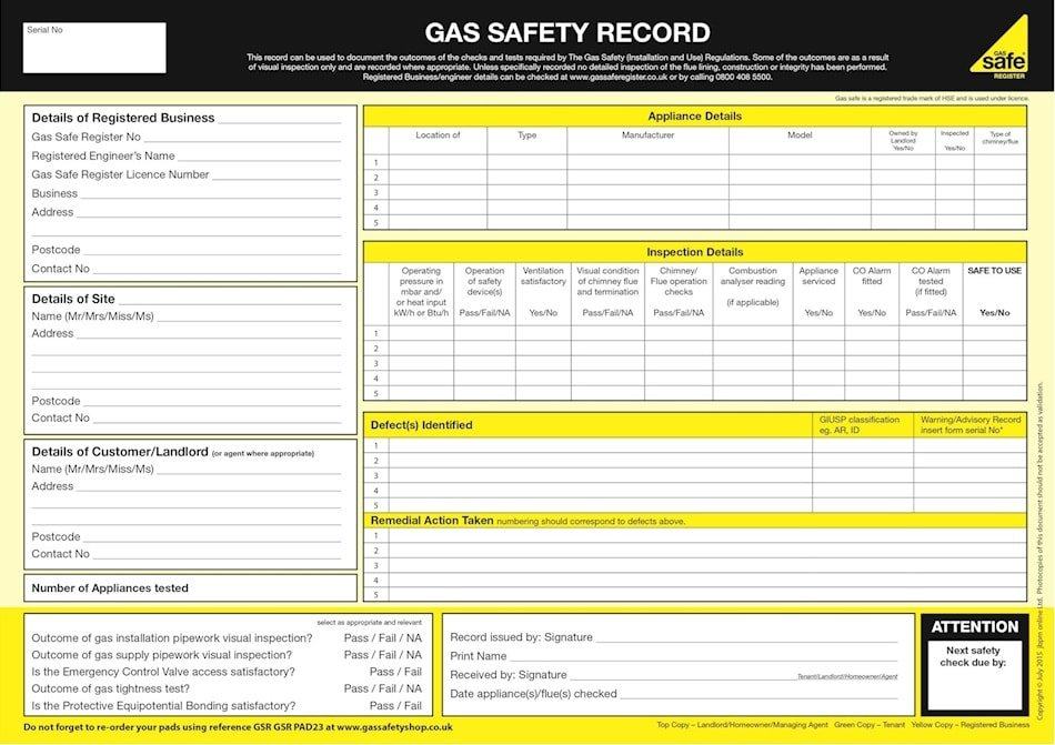 commercial gas safety certificate